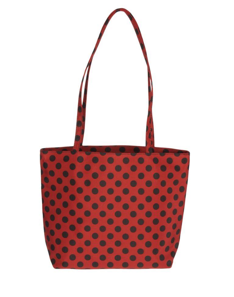 borsa rossa a pois