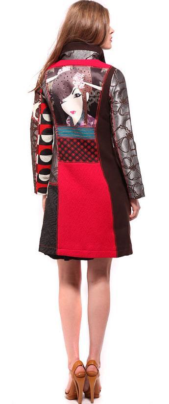 cappotto con stampa geisha, cappotto geisha, desigual geisha, cappotto geisha desigual, fashion blogger, street style, Geisha Print Coat, secret sale, desigual online, desigual store online, desigual shopping online