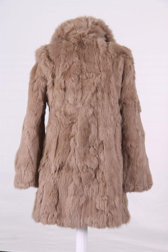 pelliccia in lapin, cappotto di pelliccia, pelliccia beige, pelliccia lunga, cappotto lungo di pelliccia, outlet pellicce, outletpellicce.it
