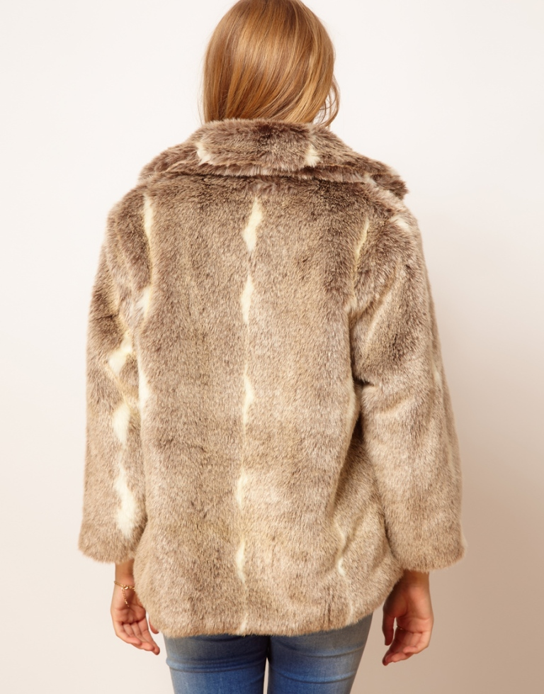 pelliccia vintage, cappotto vintage, pelliccia biege, asos, pelliccia sintetica, pelliccia ecologica, asos collection