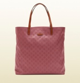 borsa shopping in nylon guccissima rosa scuro gucci