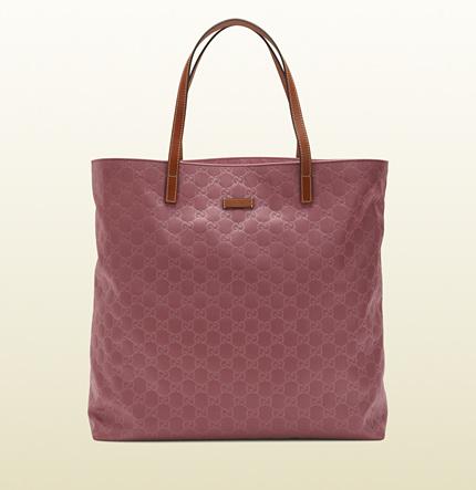 borsa shopping in nylon guccissima rosa scuro, borsa shopper gucci, gucci online, gucci store online, gucci borse online