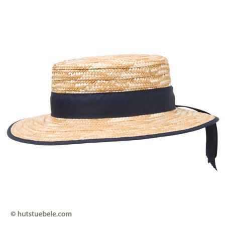 cappello da gondoliere, cappello in paglia con nastro blu, panama, cappello panama, Hutstuebele, cappelli Hutstuebele, cappelli online, cappelli shopping online