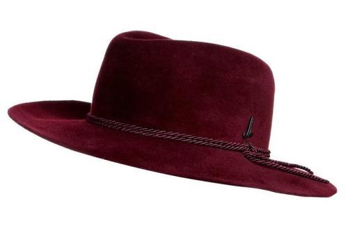 Mühlbauer KUNO KORI - Cappello - rosso, cappello bordeaux, cappello uomo falde larghe, cappello rosso a falde larghe, cappello a falde larghe, cappello con cordino