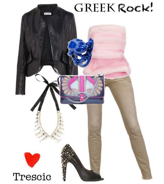 grazia, grazia.it, it blog, itblog, it blogger, it blog, blogger we want you, fashion blog, fashion blogger, Borsa con tracollina, Paula Cademartori, Bustier peplum in seta e organza, Oscar de la Renta, Pantaloni denim skinny, Cycle, Giacca in pelle nera, Jil Sander, Decolletè Open-toe con borchie, Sam Edelman, Anello in ottone blu, Marmèn, yoox, net a porter, luisaviaroma.com, luisa via roma, net-a-porter.com, netaporter, colletto in pvc con borchie, colletto marni, colletto con borchie, marni, collana con borchie