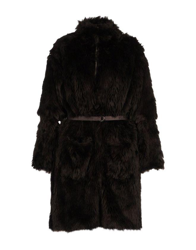 mm6 by maison martin margiela, pelliccia ecologica, pelliccia marrone, pelliccia con cintura, pelliccia testa di moro, yoox, fashion blog, fashion blogger