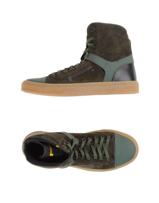 sneakers uomo, sneakers verdi, sneaker alte uomo, sneaker pirelli pzero, sneakers alte verdi, scarpe da ginnastica, sneakers verde olivayoox