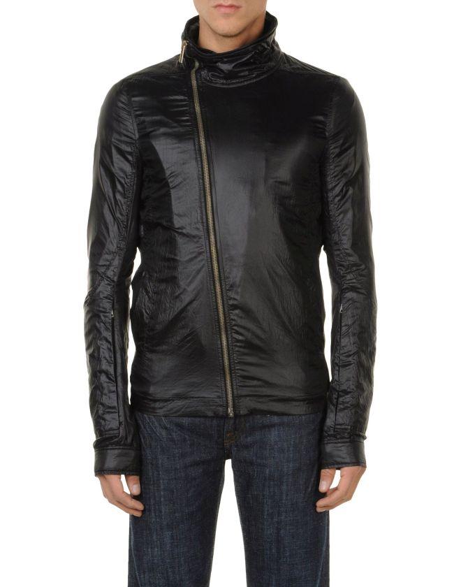 RICK OWENS Giubbotto, giubbotto tessuto tecnico, giubbotto simlpelle,giacca pelle, giubbotto pelle, yoox, giubbotto uomo