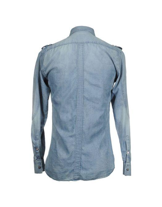 NEIL BARRETT, Camicia jeans, yoox, fashion blogger