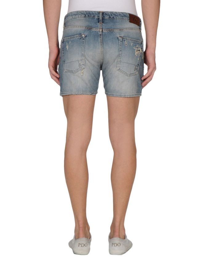(+) PEOPLE, Shorts jeans uomo, yoox
