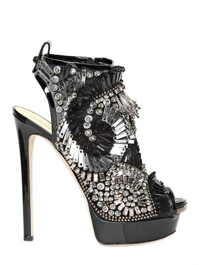 dsquared, sandali con cavigliera, sandali con pietre, sandali con Swarovski, sandali in vernice, luisaviaroma, fashion blogger
