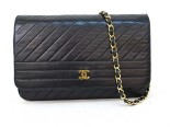 borsa chanel, chanel vintage, Chanel BlackLambSkin Gold Chain Shoulder Flap Bag, borse chanel shop online