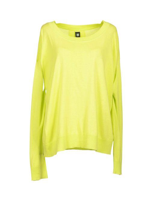 0051 INSIGHT, Maglia maniche lunghe, maglia verde acido, yoox
