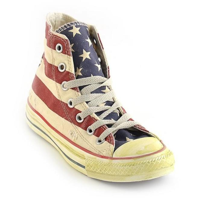 converse all star, sneakers, converse bandiera americana, converse bandiera usa, uniclan.it
