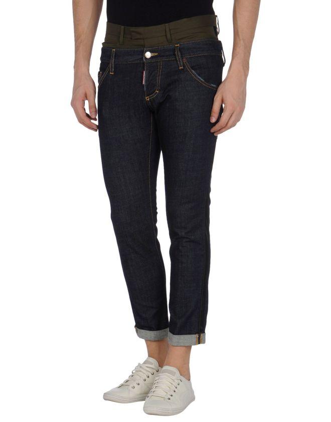 dsquared2, jeans uomo, jeans con risvolto, yoox