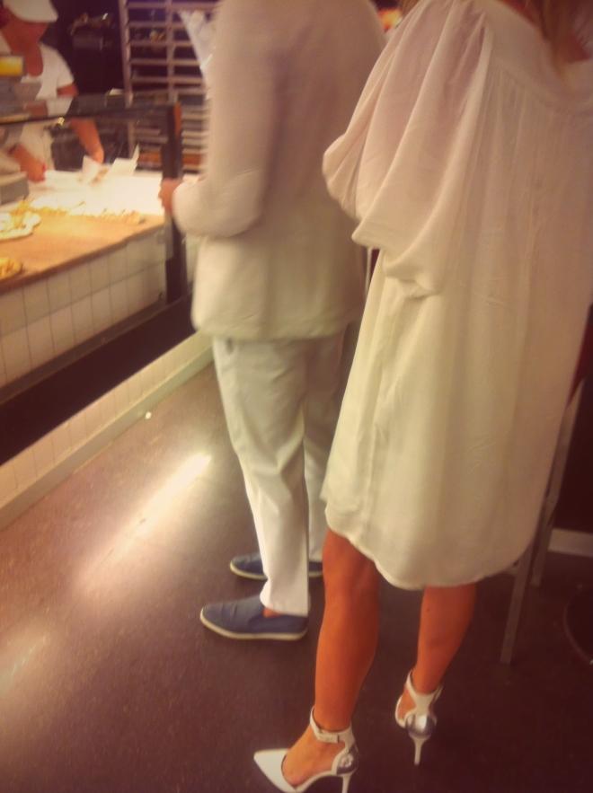 abito bianco, abito avorio, milano street style