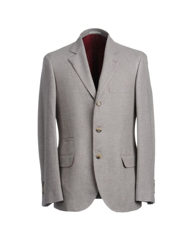 BRUNELLO CUCINELLI. Giacca grigia uomo, giacca grigio chiaro, yooxa