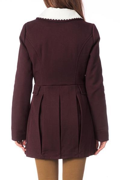 cappotto viola, cappotto con colletto, vero moda