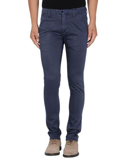 DONDUP, Pantalone elasticizzato, pantalone blu, pantalone slim, yoox