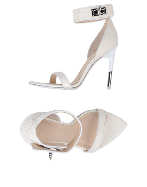 Sandali avorio con stiletto, sandali rettile, Givenchy, yoox
