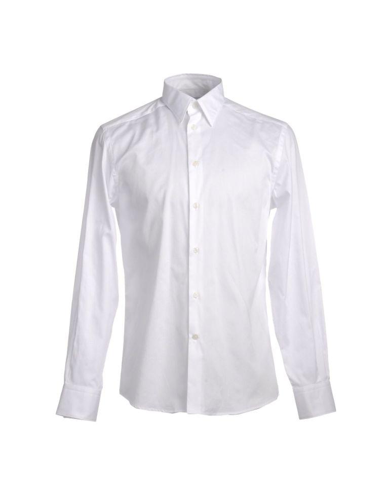 VERSACE COLLECTION, Camicia bianca uomo, yoox