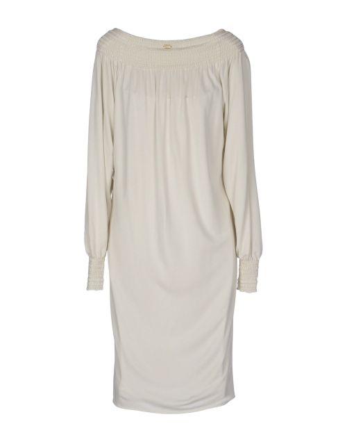 Vestito corto avorio, vestio bianco jersey, Gucci, yoox