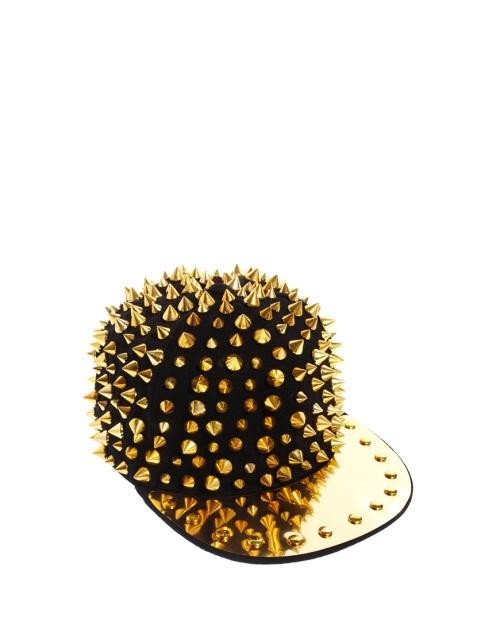 Arrogant Cat  London, asos, Cappellino con borchie a punta e placca metallica, berretto con visiera, cappello con visiera