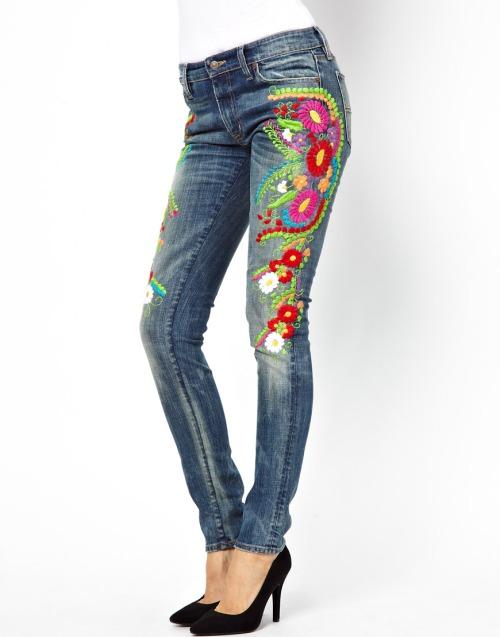 jeans skinny ricamati, Denim & Supply By Ralph Lauren, asos