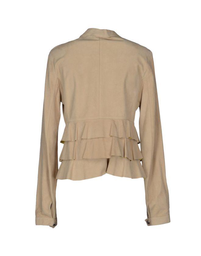 REBECCA CORSI, Giacca scamosciata, giacca in camoscio, yoox