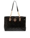 River Island - Shopper in vernice nera trapuntata