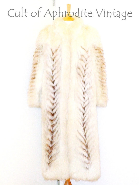 pelliccia vintage, pelliccia lunga vintage, pelliccia bianca, saga fox, etsy