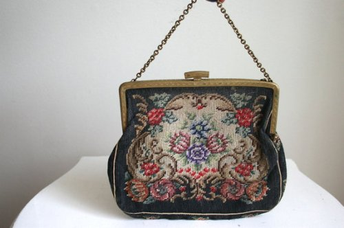 borsa di tappezzeria, tapestry bag, borsa anni 20, etsy, frame