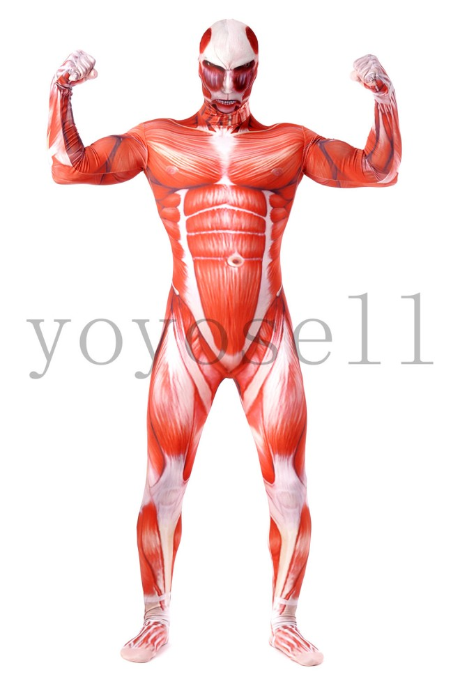 costume muscolatura, costume muscoli, tuta muscoli