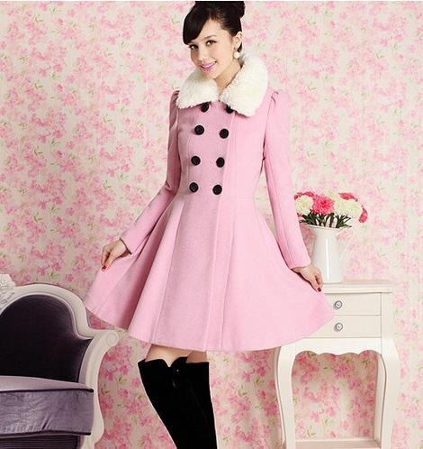 cappotto rosa, cappotto con collo in pelliccia, cina, Eric Liang's store, aliexpress