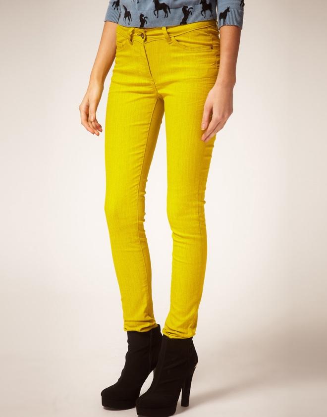 ASOS - Jeans skinny gialli